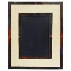 Ivory Shagreen and Brown Horn Photo Frame