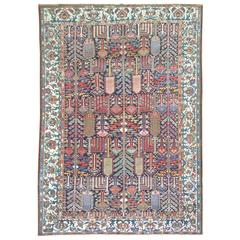Antique Persian Bakhtiari Willow Tree Carpet