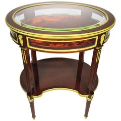 A French Louis XVI Style Belle Epoque Ormolu-Mounted Vitrine Table, Attr. Linke