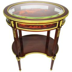 A French Louis XVI Style Belle Epoque Ormolu-Mounted Vitrine Table, Attr. Linke