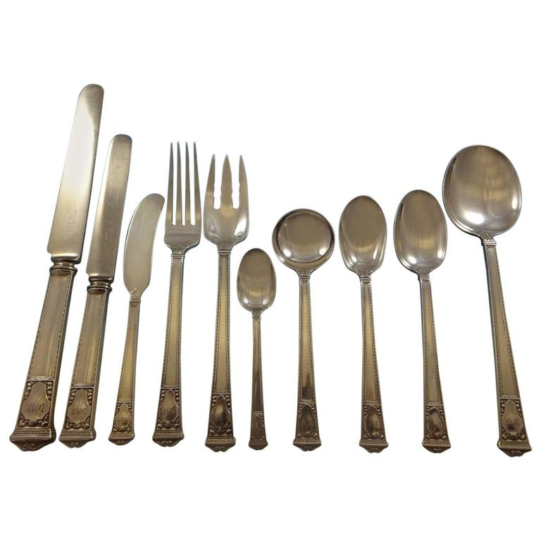 San Lorenzo by Tiffany and Co Sterling Silver Flatware Service Set of 133 Pieces For Sale