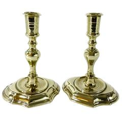 Pair of Danish Brass Candlesticks, circa 1700