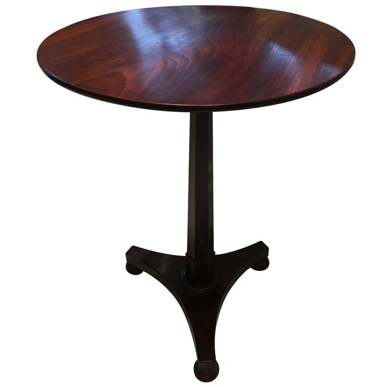 Antique Mahogany Flip Top Round Side Table For