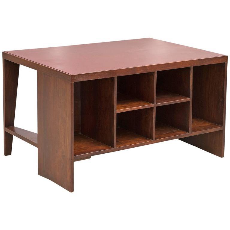 Pierre Jeanneret Chandigarh Desk in Indian Rosewood, 1950s For Sale