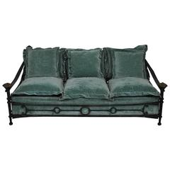 Important Wrought Iron Sofa by Sido & FrançOis Thevenin, France, 1970s