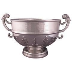 Massive Edwardian Sterling Silver Punch Bowl