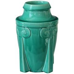Awaji Pottery Japanese Art Deco Rocket Form Vase