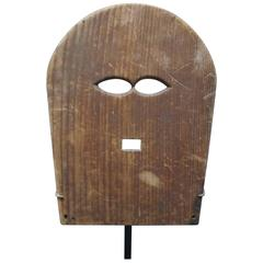 19th Century Glass Workers Wood Mask