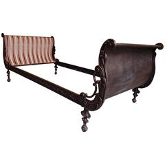 19th Century Daybed Cast Iron Completely Restored Copper Patina