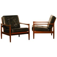 1960s, Set of Two Kolding Lounge Chairs by Erik Wørts for Bröderna Andersson