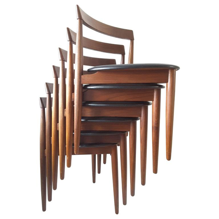 Set Of Six Hans Olsen For Frem Rojle Danish Dining Chairs
