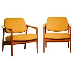 1960s, Set of Two Lounge Chairs by Folke Ohlsson for DUX Sweden