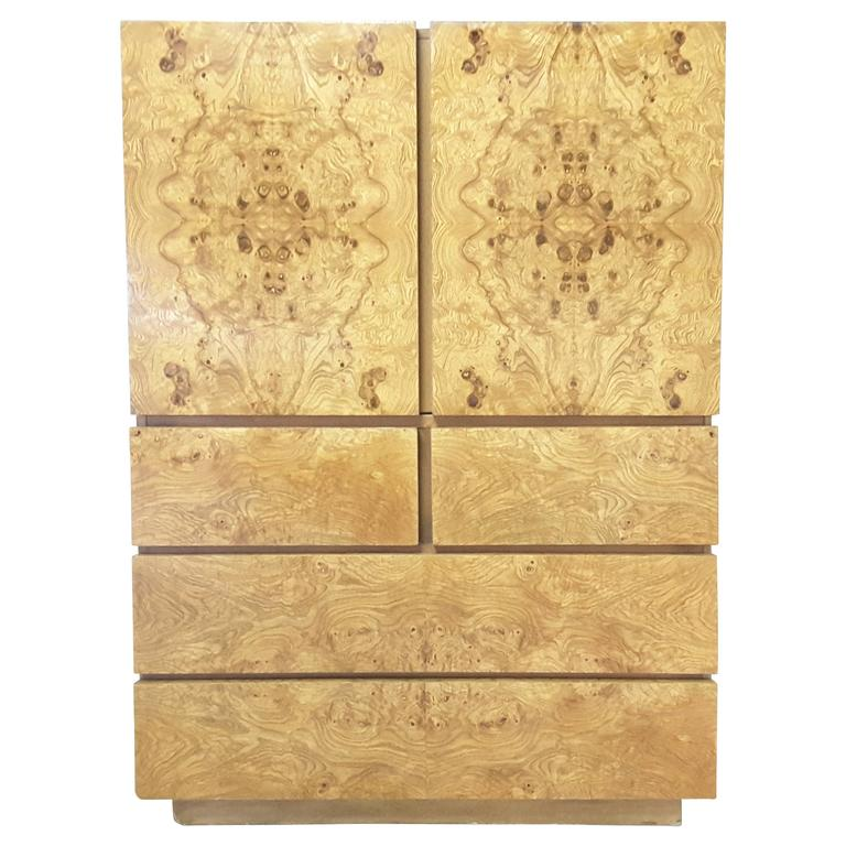 Milo Baughman Burl Wood Cabinet For Altavista Lane 1
