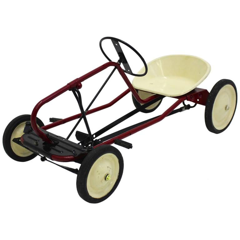 Red Toy Pedal Car for Children 1950s