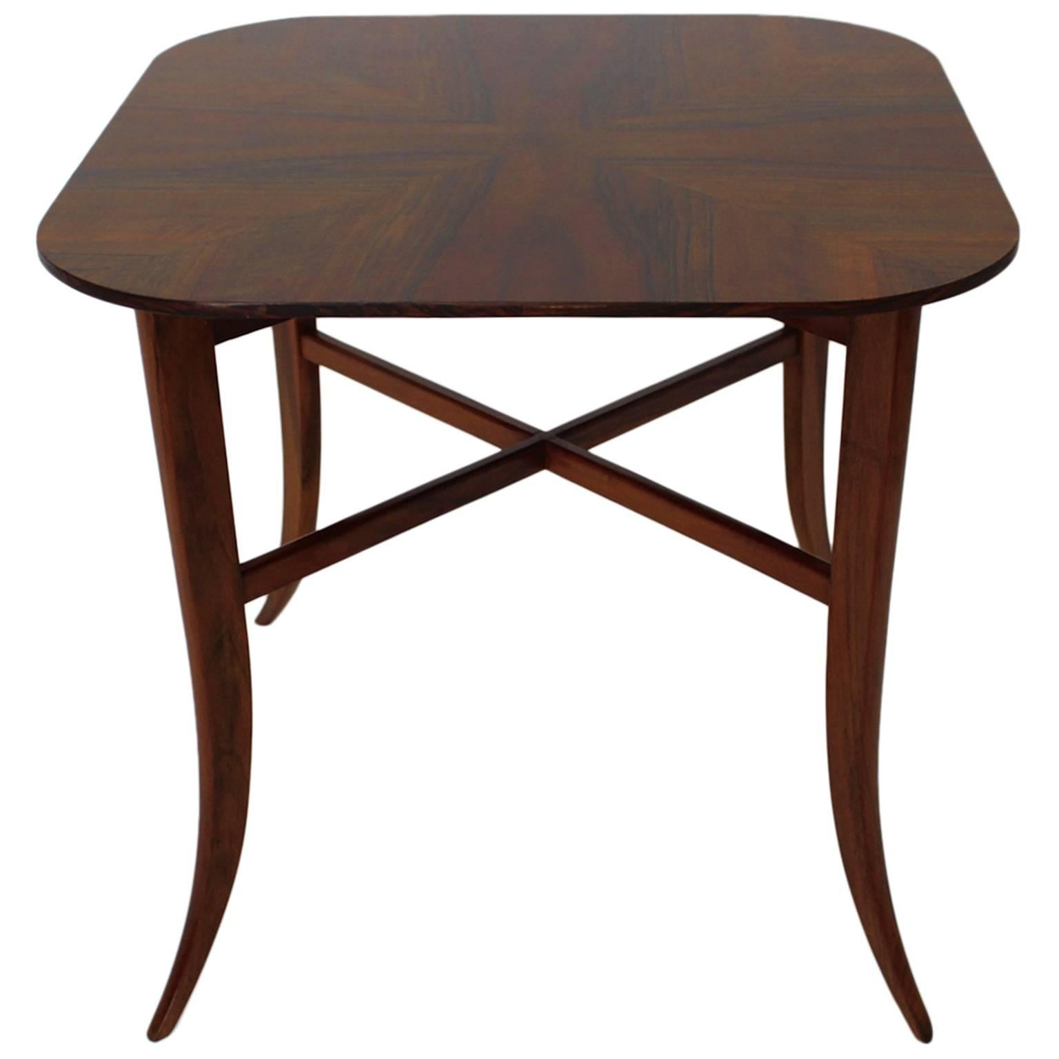 Art Deco Vintage Walnut Coffee Table or Side Table by Josef Frank, 1930s, Vienna
