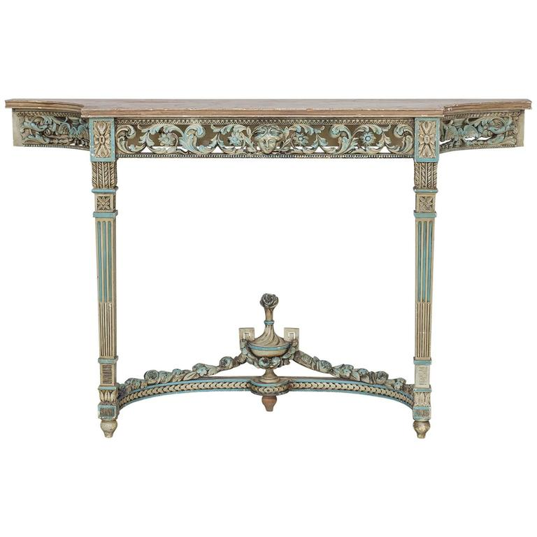 Antique French Louis Xvi Neoclical Painted Console Table Circa 1890 For