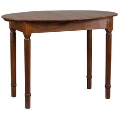 Antique French Restauration Louis Philippe Oval Top Table, circa 1830