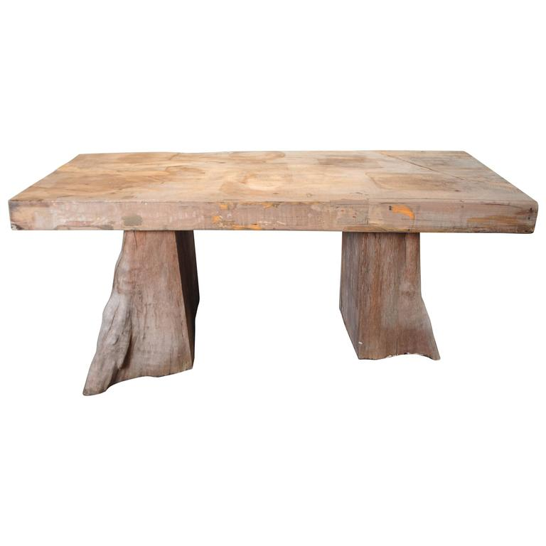 Organic Teak Dining Table For Sale At 1stdibs