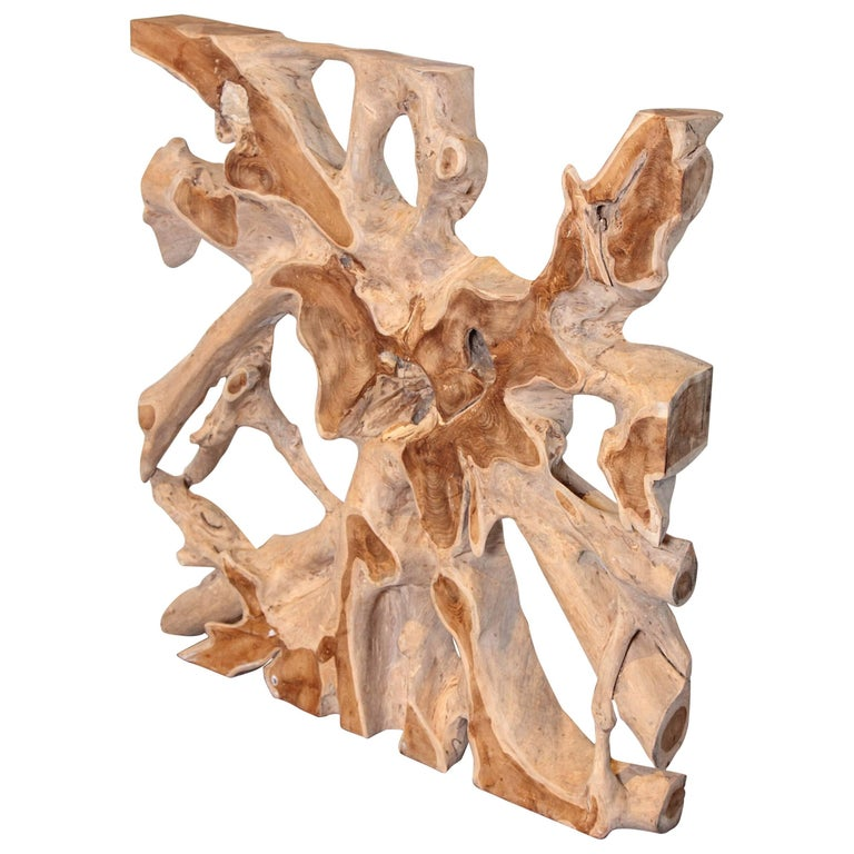 Organic Teak Wood Sculpture
