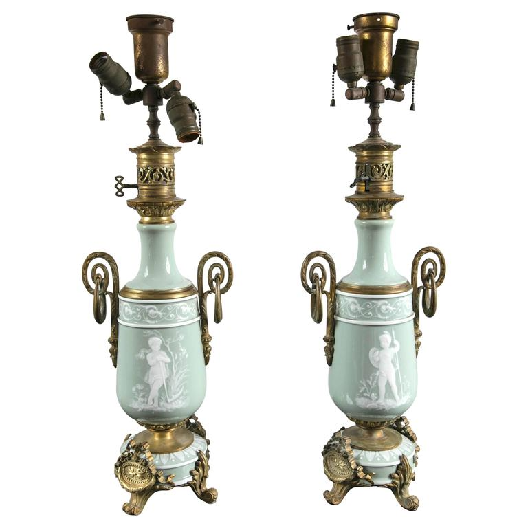 Pair of Pate Sur Pate Lamps
