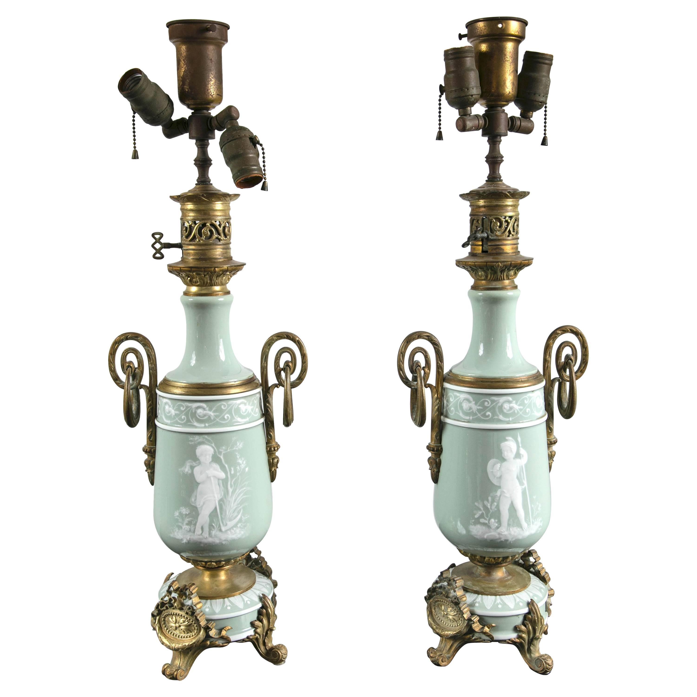Pair of Pate Sur Pate Lamps
