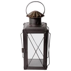 19th Century Scottish Glass Side Lantern