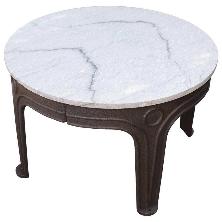 Cast Iron Table With A Granite Top For Sale At 1stdibs