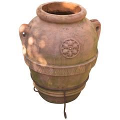 Large Weathered Italian Terra-Cotta Garden Urn