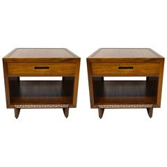 Pair of Side Tables by Frank Lloyd Wright for Heritage-Henredon, 1955-1956, USA
