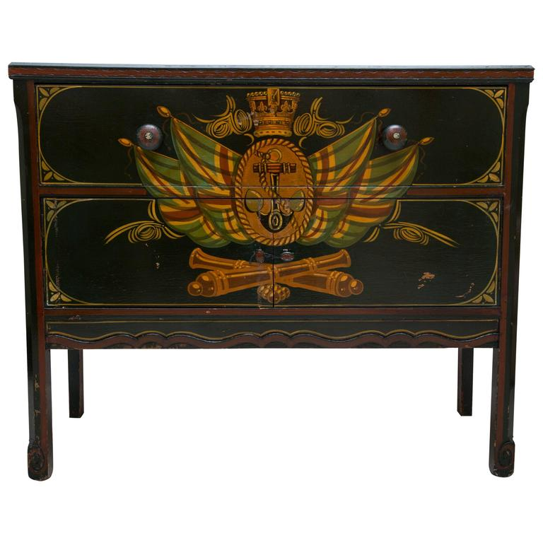 Nautical Painted Chest For Sale - Nautical Painted Chest At 1stdibs