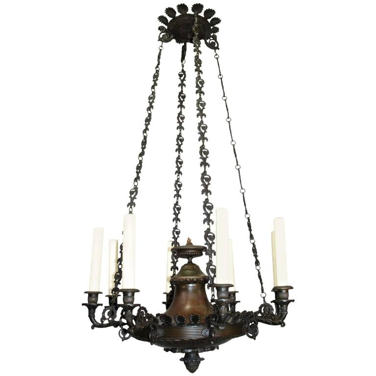 Antique Chandelier, Empire Style Chandelier