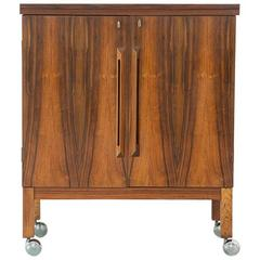 1960's Danish Rosewood Flip Top Dry Bar by Torbjørn Adfal