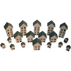Collection of Miniature Wood Blocks/Houses