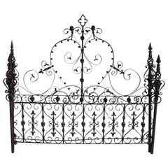 Custom Made Gothic Iron Bed with Bronze Skulls