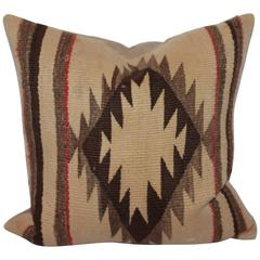 Sawtooth Eye Dazzler Navajo Weaving Pillow