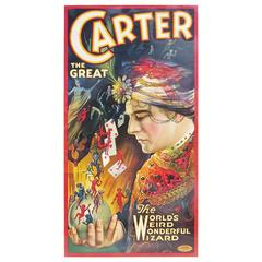 Carter the Great Magician Three-Sheet Framed Lithograph