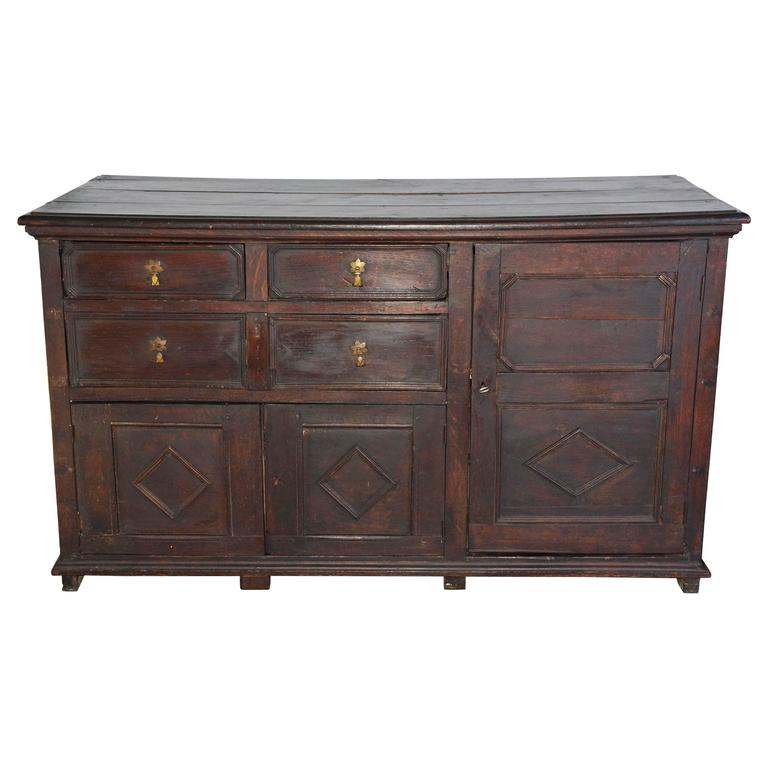 William & Mary Oak Sideboard