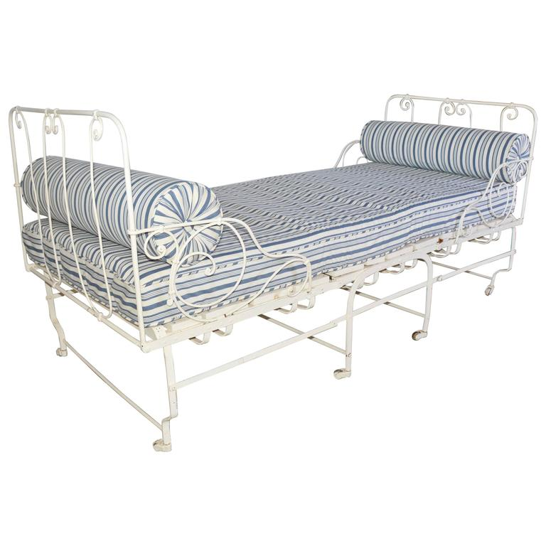 Unusual 19th Century French Center Folding Daybed For Sale