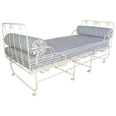 Unusual 19th Century French Center Folding Daybed