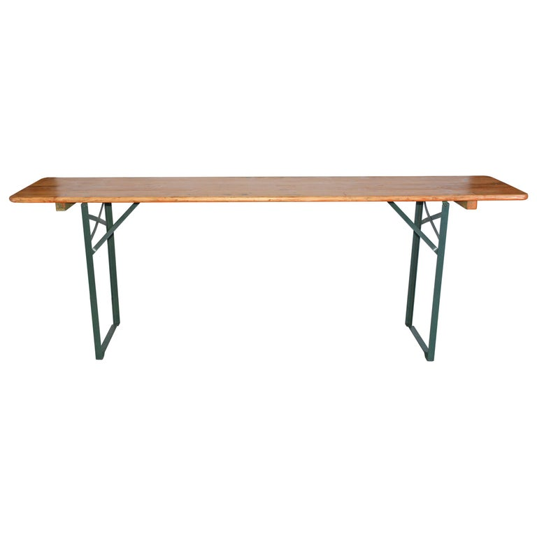 Folding Beer Hall Table For Sale At 1stdibs