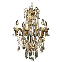 Italian Florentine Six-Light Cage Chandelier