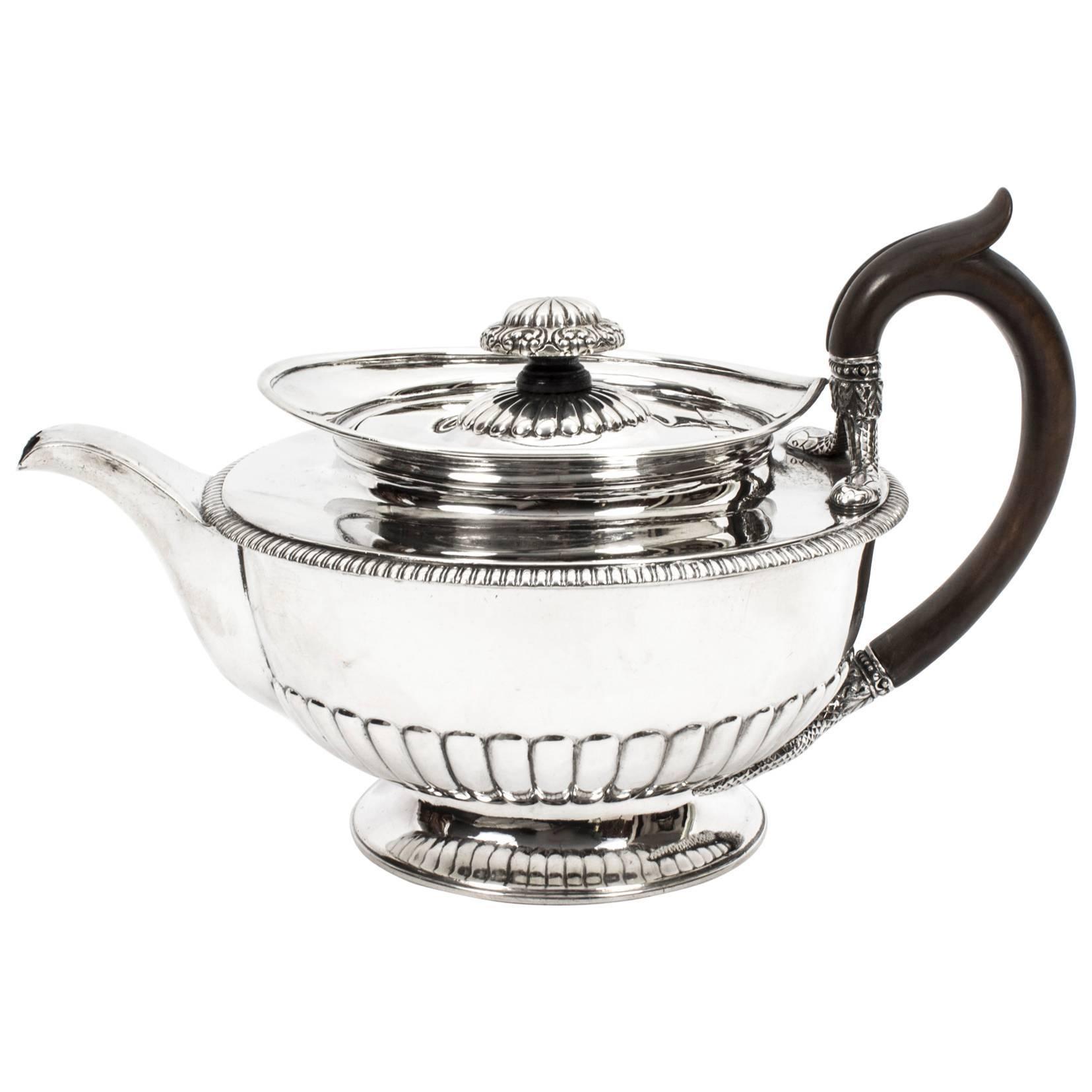 Antique Sterling Silver Teapot Paul Storr, 1809