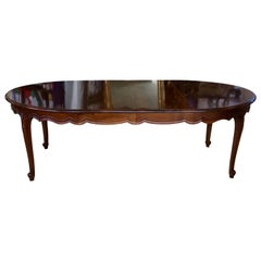 Louis XV Style Dining Table Hand-Carved in Solid French Walnut