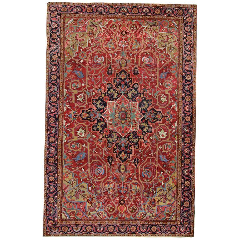 Antique Persian Rugs, Persian Carpet from Heriz