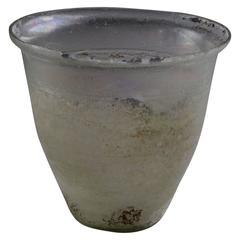 Ancient Roman Glass Beaker, 300 AD