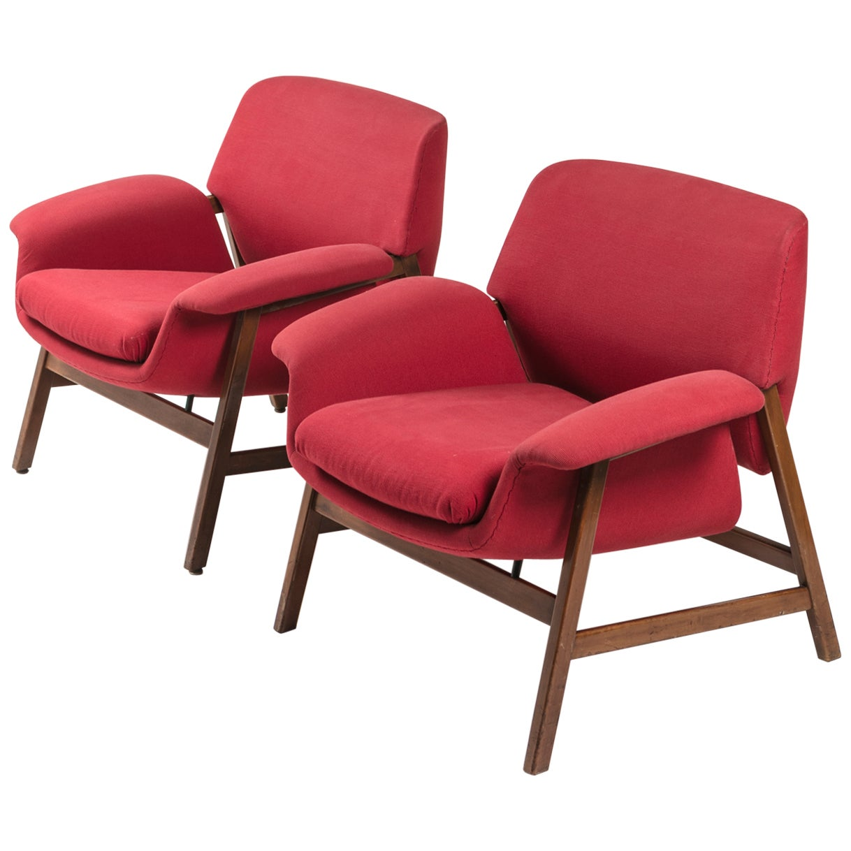 Pair of Armchairs by Gianfranco Frattini for Cassina