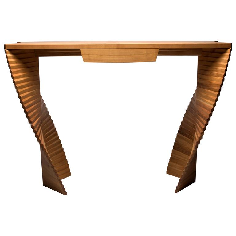 Linear Ellipse, Unique Wood Console, Jan Waterson 1