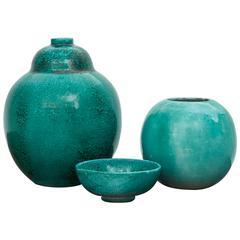 Set of Three Ceramic Vases, Primavera, 1930