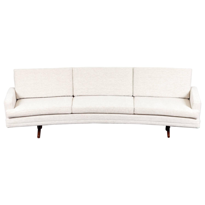 Fredrik kayser mid century modern curved sofa for sale at for Mid century modern curved sectional sofa