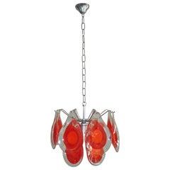 Gino Vistosi Chandelier for Venini Murano Glass Drop, 1960s